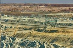 Excavación de la mina de carbón Imagen de archivo