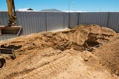 Excavación de la piscina Fotos de archivo