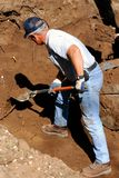 Excavación del hombre Fotos de archivo