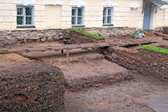Excavaciones arqueológicas foto de archivo libre de regalías