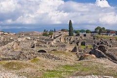 Excavaciones arqueológicas de Pompeya, Italia Foto de archivo