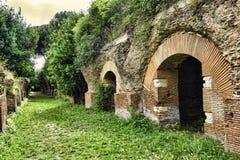 Excavaciones arqueológicas de Roman Empire del puerto de Trajan - Imagenes de archivo