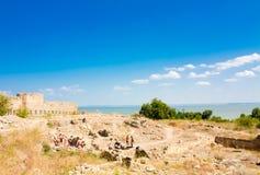 Excavaciones arqueológicas en la fortaleza medieval Akkerman Belgoro Fotos de archivo