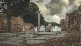 Excavaciones arqueol?gicas de Ostia Antica, Roma Italia foto de archivo libre de regalías