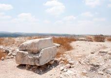 Excavaciones de la arqueología en Israel Fotografía de archivo