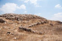 Excavaciones de la arqueología en Israel Imagen de archivo
