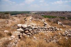 Excavaciones de la arqueología en Israel Imagenes de archivo