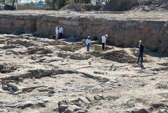 Excavaciones de Taraz antiguo, Kazajistán fotos de archivo