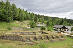 Excavaciones romanas en austriaco Magdalensberg imagen de archivo libre de regalías