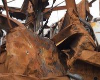 Excavado en tejado del metal Fotos de archivo libres de regalías