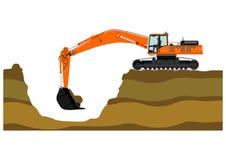 Excavador ilustración del vector