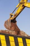 Excavador Bucket Earth de los terraplénes Fotografía de archivo