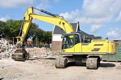 Excavador de la demolición Imagenes de archivo