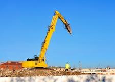 Excavador de la demolición Imagen de archivo