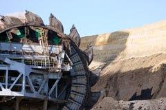 Excavador de la mina Fotografía de archivo libre de regalías