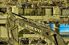 Excavador de Volvo imagen de archivo libre de regalías