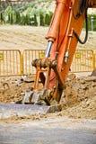 Excavador del cargador que se coloca en mina Imágenes de archivo libres de regalías