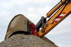 Excavador en la acción Imagen de archivo libre de regalías