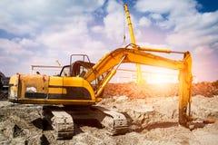 Excavador en la acción Foto de archivo