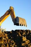 Excavador hidráulico en el trabajo Fotografía de archivo