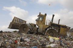 Excavador Loader At Site foto de archivo