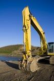 Excavador por la charca Foto de archivo
