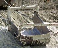 Excavador que recorre Imagen de archivo