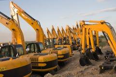 Excavadores Imagen de archivo