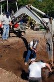 Excavadores de la piscina Imagen de archivo