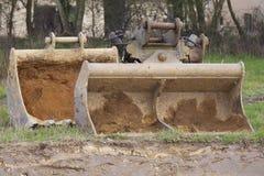 Excavadores de Whelled foto de archivo libre de regalías