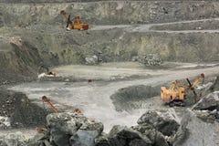 Excavadores del grupo Imagenes de archivo