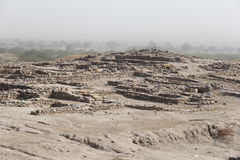 Excavated Harappa Civilization Stock Photo