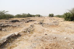Excavated Harappa Civilization Royalty Free Stock Photo