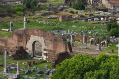 Excavated parts of the ancient Roman Forum Stock Images