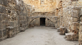 Excavated Ruins of the Pool of Bethesda and Church Royalty Free Stock Images