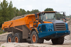Excavating. A full Dumptruck in holland stock images