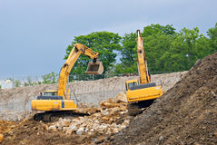 Excavating Royalty Free Stock Photo