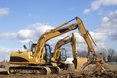 Excavating Equipment Royalty Free Stock Photo