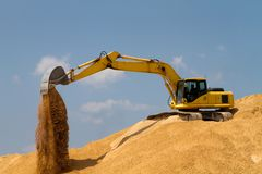 Excavating Gravel Royalty Free Stock Photo