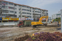 Excavating machinery Royalty Free Stock Images