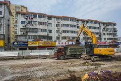 Excavating machinery Stock Images