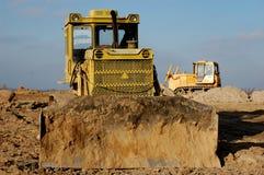 Excavation. Urban construction.Kiev,Ukraine. Excavation for ground level Stock Photos