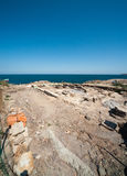 The excavation of ancient tombs on the Black Sea in Bulgaria Royalty Free Stock Photos