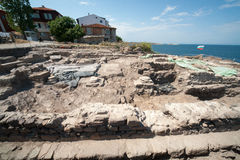 The excavation of ancient tombs in Sozopol in Bulgaria Stock Image