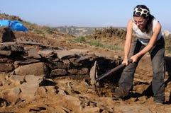 Excavation archéologique. Les Asturies Image libre de droits