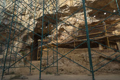 EXCAVATION AT ATAPUERCA Stock Images