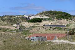 Excavation bunker Vlieland royalty free stock photos