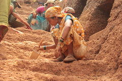 Excavation d'archéologie photographie stock