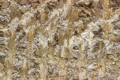Excavation dirt texture exposed, background  Stock Photos