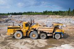 Excavation and dump vehicle Stock Image